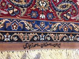 signed persian oriental area rugs