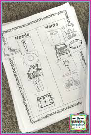 Needs And Wants Chart Needs And Wants Schedulin Sunday The Kindergarten