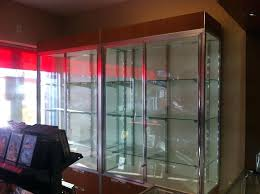 custom glass shelf amazing custom glass shelf pro c a table top and large cabinet made from