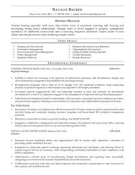 Property Managers Resume Resume Template