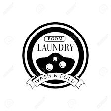 黒と白にランドリーの洗濯機とドライ クリーニング サービス署名ウィンドウを表示しますベクトル洗濯書道