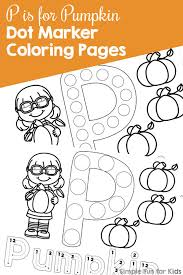 P Is For Pumpkin Dot Marker Coloring Pages Simple Fun For Kids