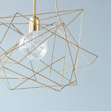 Asymmetric Ceiling Lamp Shiny Gold