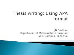 Apa Style Full Gude Of Preparing Thesis Docsity