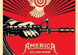 anti gun control poster. Delighful Gun The New Artwork By Shepard Fairey Attacking The Antigun Control Lobby In  America For Anti Gun Control Poster
