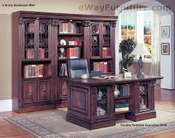 Ebay office desks Gaming Does Not Apply Ebay Traditional Home Office Furniture Wood Double Pedestal Executive