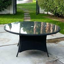 round table inch dining glass top replacement 48 patio round glass patio table