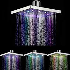 Zhang Ji 8 Inch Stainless Steel Led Light Rainfall Shower
