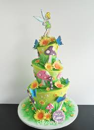 Small Picture whimsical fairy garden theme birthday cake by Rick Reichart