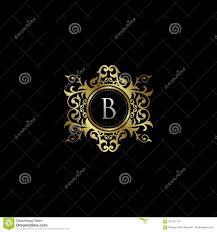 Luxury B B Lake District Grand Designs Initial B Luxury Elegant Gold Logo Vector Stock
