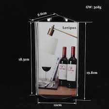 Menu Display Stands Restaurant Triangle Sign signage frame Rotatable acrylic restaurant table 30