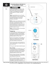 warning wall station transmitter wayne dalton prodrive 3222c z user manual page 39 48