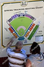 Baseball Fans Locate Their Seats On Map Editorial Stock