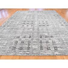9 x11 7 hand knotted undyed natural wool modern grey oriental rug