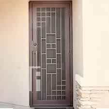 Copper Triple Plate Iron Security Door - First Impression Ironworks