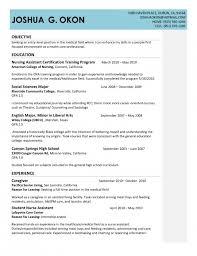 Job Resume Cna Resume Templates Sample Certified Nursing Entry Level Cna  Resume Sample