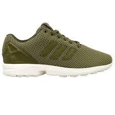 adidas khaki trainers. adidas originals mens zx flux casual trainers dark green s79087 new khaki