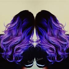 Violet Hair Color and purple too by Toni Rose Larson Mermaid hair.