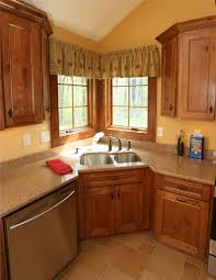 Kitchen Corner Sink This Is A Beautiful Showplace Kitchen Featuring Our Rustic Alder