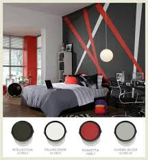 Black Gray And Red Bedroom Ideas 2