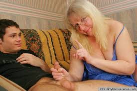 Mum watches son masturbate