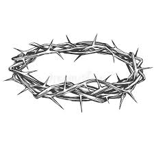 Crown Of Thorns, Easter Religious Symbol Of Christianity Hand Drawn Vector  Illustration Sketch Stock Vector - Illustration of redemption, isolated:  108804763