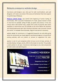 Ecommerce Web Design Malaysia Malaysia Ecommerce Website Design