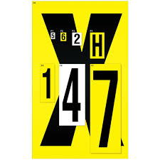 Full Set Of Letter Labels 140x230mm Yellow Letters A Z