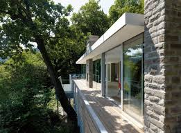 stunning modern german house brings nature inside striking lake house in germany outside view