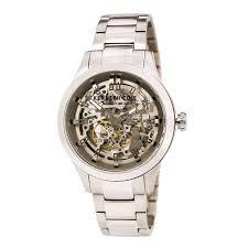 kenneth cole 10027341 men s automatic silver skeleton dial steel kenneth cole 10027341 men s automatic silver skeleton dial steel bracelet watch