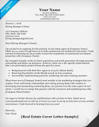 commercial real estate cover letter resume cover letter real estate example template