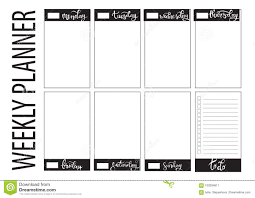 Weekly Calendar Online Cute Calendar Daily And Weekly Planner Template Vector Meal