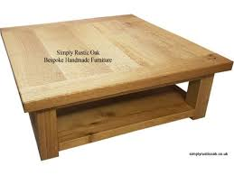 rustic oak ripple top coffee table