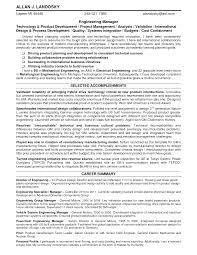 Inspirations Career Summary For Engineering Management Resume