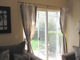 ... Curtain, Sliding Door Curtain Sliding Glass Door Window Treatments  Curtain Rods For Bay Windows: ...