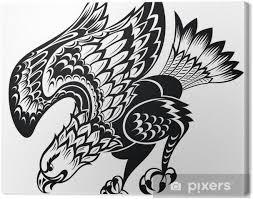 Obraz Tetování Orel Na Plátně