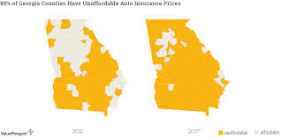 graph shows how insurance groups have raised auto insurance rates in georgia since 2016
