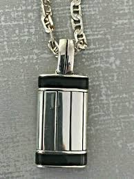 19 5 rectangular black onyx sterling