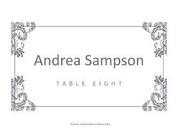 Fresh Wedding Table Place Cards Template Seating Free