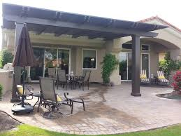 Brown aluminum patio covers Bronze Aluminum Solid Patio Cover Palm Springs Ca Valley Patios Aluminum Patio Covers Near Me Valley Patios Custom Aluminum