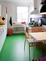 Modern Kitchen Design with Green Floor