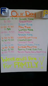 Daily Routine Chart For 2 Year Old This Is Our Daily Summer Schedule When The Older Kids Are