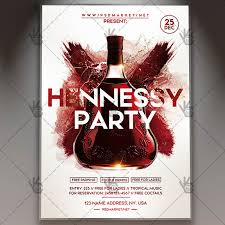 Hennessy Party Flyer Psd Template