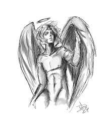 Angel Sketch Artstation Angel Sketch Andrezza Vittorazzi