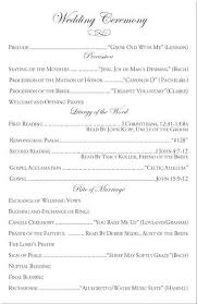 Wedding Order Of Events Template Sample Wedding Ceremony