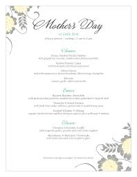 Mother S Day Menu Template Mothers Day Menu Templates And Designs Musthavemenus