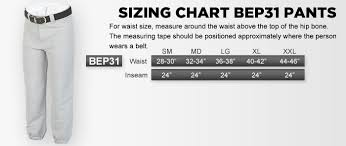 Particular Mens Baseball Pants Size Chart Easton Mens