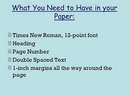 Paper Format How To Make Your Paper Legit According To The Mla