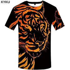 <b>KYKU Brand Tiger</b> Shirt Black Clothing Animal T-shirt 3d Print T Shirt ...