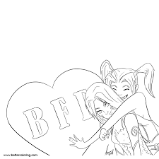 Bff Coloring Pages Best Friends Forever Free Printable Coloring Pages